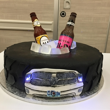 Tire Grooms Cake